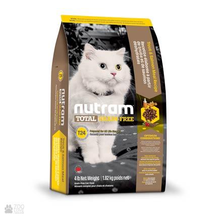 беззерновой корм для котов с лососем и форелью T24 Nutram Total GF Salmon & Trout Cat