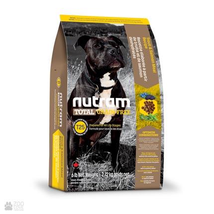 беззлаковый холистик корм для собак с лососем и форелью Nutram Total GF Salmon & Trout Dog