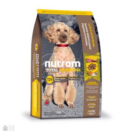 беззлаковый холистик корм для собак мелких пород с ягненком T29 Nutram Total GF Lamb Small Dog