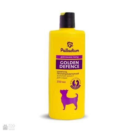 Шампунь от блох и клещей для собак весом до 4 кг Palladium Golden Defence Shampoo