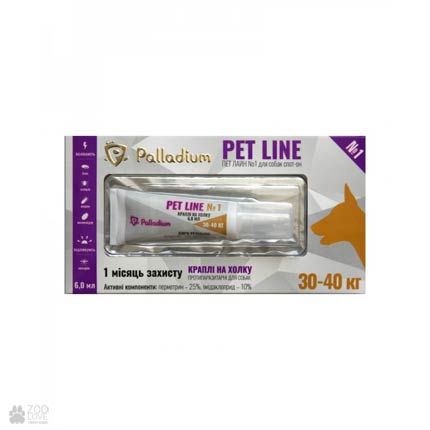 Капли от блох и клещей для собак весом 30-40 кг Palladium Pet Line №1