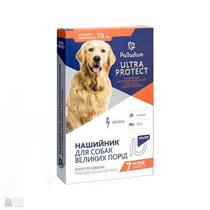 ошейник от блох и клещей для собак крупных пород Palladium Ultra Protect