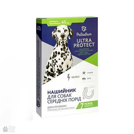 ошейник от блох и клещей для собак средних пород Palladium Ultra Protect