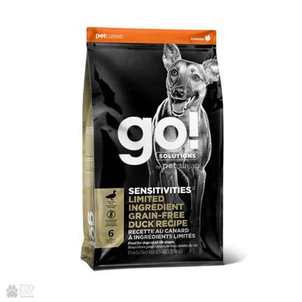 Корм для взрослых собак и щенков GO! Grain Free Sensitive Duck Receipe