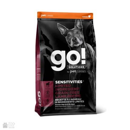 корм для собак GO! Sensitivities Limited Ingredient Grain Free Lamb Recipe