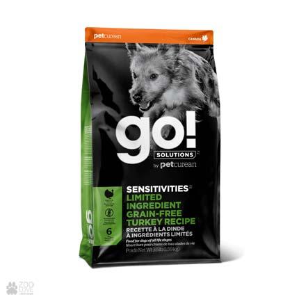 Корм для взрослых собак и щенков Go! Sensitivities Limited Ingredient Grain Free Turkey