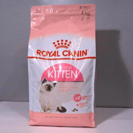 Фото упаковки 4 кг корма для котят Royal Canin KITTEN