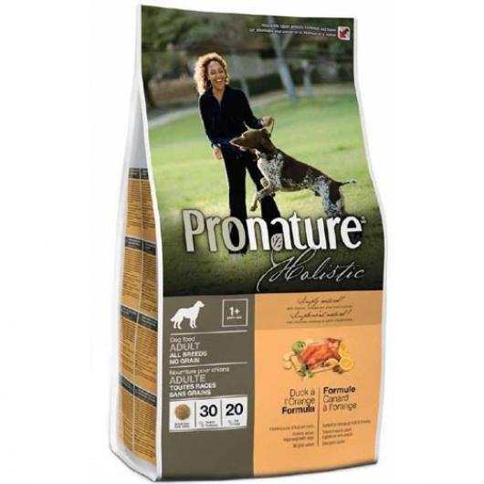 Pronature Holistic Adult Duck&Orange, беззлаковый холистик корм для собак