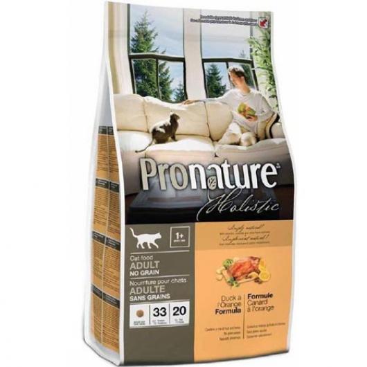 Pronature Holistic Cat Duck & Orange, беззлаковый корм для котов
