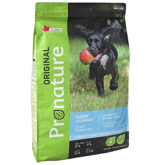 Pronature Original Puppy Chicken With Oatmeal, корм для щенков