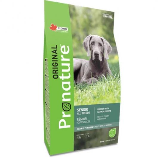 Pronature Original Senior Chicken & Oatmeal, корм для малоактивных и пожилых собак