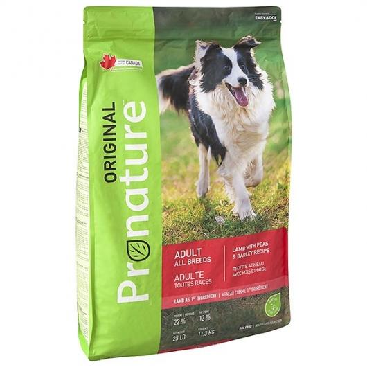 Pronature Original Dog Lamb Peas & Barley, корм для собак