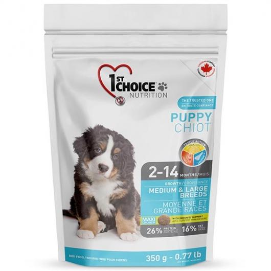 корм для щенков средних и крупных пород 1st Choice Puppy Medium & Large Chicken 0,35 кг