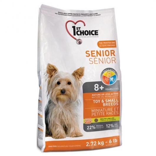 1st Choice Senior Toy & Small Breeds, корм для пожилых или малоактивных собак мини и малых пород