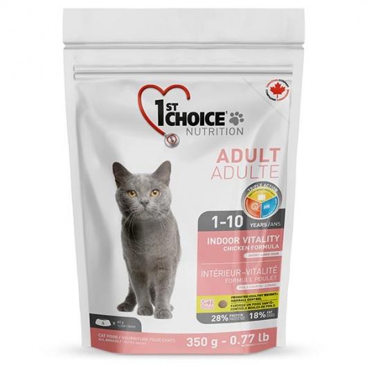 1st Choice Adult Indoor Vitality Chicken, корм для котов