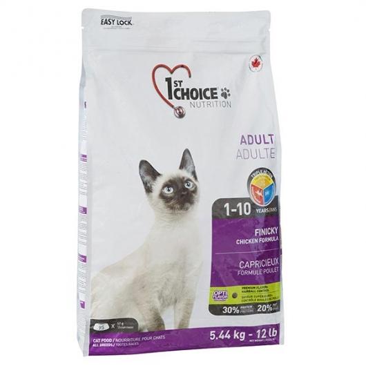 1st Choice Adult Finicky Chicken, корм для привередливых и активных котов