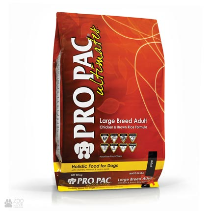 корм для собак крупных пород с курицей и рисом Pro Pac Ultimates Large Breed Adult Chicken & Brown Rice Formula