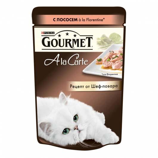 Фото корма Purina Gourmet A La Carte в кусочках с форелью в подливе