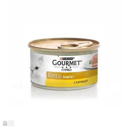Консервы для кошек Gourmet Gold с курицей. Паштет, 85 грамм