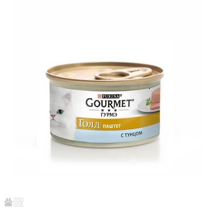 Консервы для кошек Gourmet Gold с тунцем. Мусс, 85 грамм