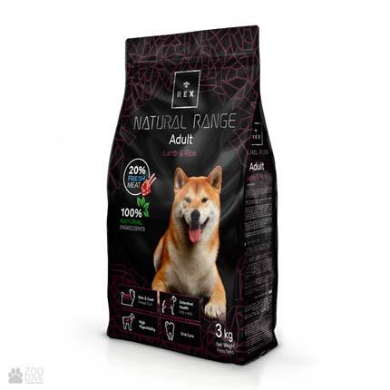 Rex Adult Lamb & Rice, корм для собак с ягненком и рисом