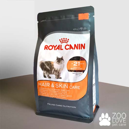 Фото упаковки корма для кошек Royal Canin HAIR & SKIN CARE, 400 г