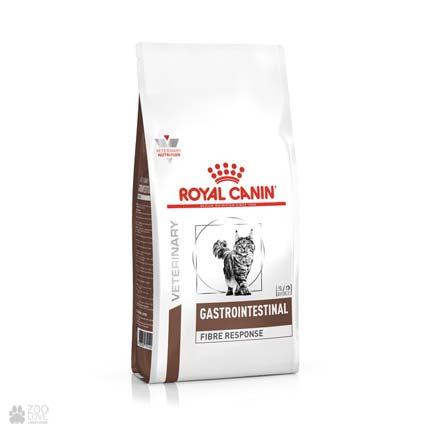 Ветеринарная диета, сухой корм для кошек Royal Canin Gastrointestinal FIBRE RESPONSE при запорах