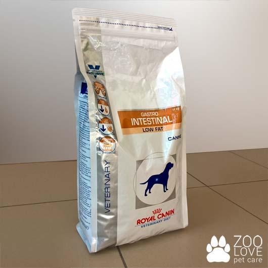 Упаковка корма для собак Royal Canin GASTRO INTESTINAL LOW FAT, 1,5 кг