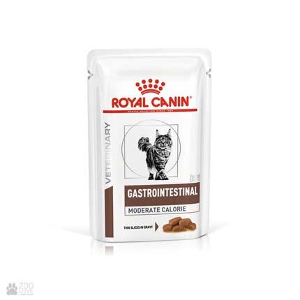 Ветеринарный диетический корм консервы для кошек Royal Canin GASTROINTESTINAL Moderate Calorie при панкреатите