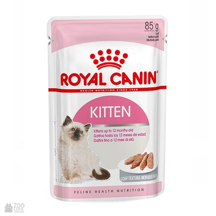 Консервы для котят Royal Canin KITTEN INSTINCTIVE паштет (дизайн упаковки с 2018 года)