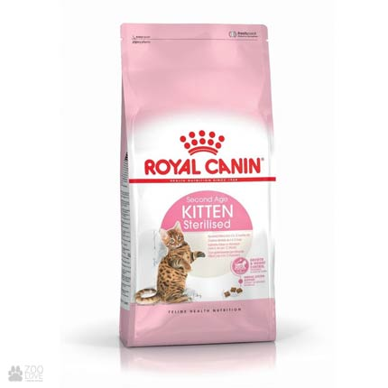 Упаковка корма Royal Canin KITTEN STERILISED second age