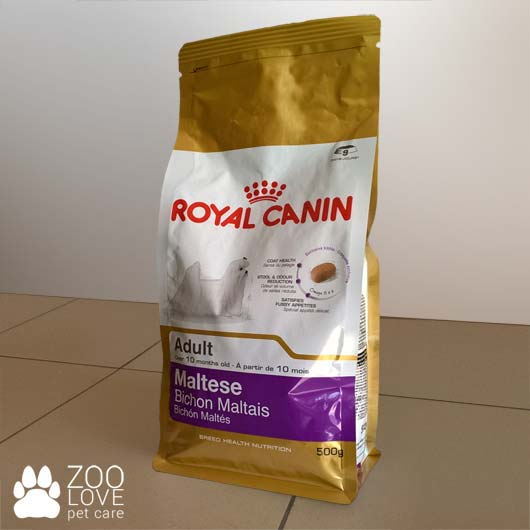 Упаковка корма для мальтийских болонок  Royal Canin Maltese Adult 500 грам