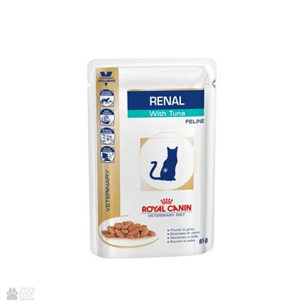 консервы для кошек при болезнях почек Royal Canin Renal with Tuna