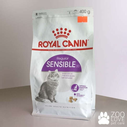 Упаковка корма Royal Canin SENSIBLE 400 г