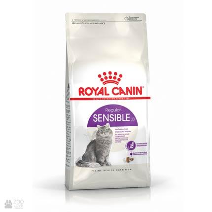 Изображение упаковки корма для кошек Роял Канин Сенсибл