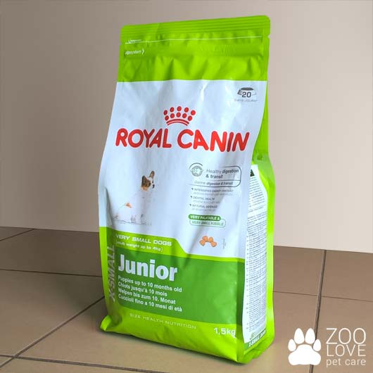 Упаковка корма для щенков Royal Canin X-SMALL JUNIOR, 1.5 кг