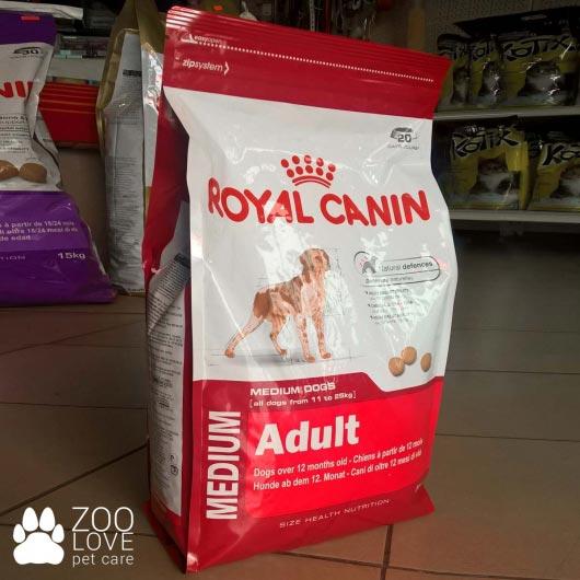 Упаковка корма для собак Royal Canin MEDIUM ADULT 4 кг - фото