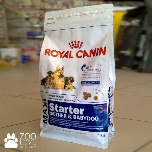 Упаковка корма Royal Canin MAXI STARTER 1 кг