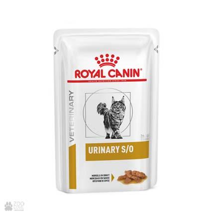 Лечебный корм для кошек с мочекаменной болезнью Royal Canin URINARY S/O Gravy, кусочки в соусе, паучи (дизайн с 2019 года)