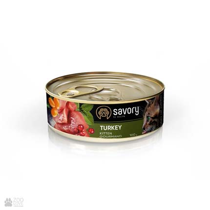 Консервы для котят Savory Gourmand Kitten Turkey