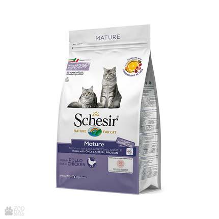 корм для пожилых кошек Schesir Cat Mature Chicken с курицей