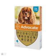 Bayer Advocate, антигельминтные и инсектоакарицидные капли для собак, весом от 4 до 10 кг