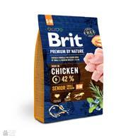 Brit Premium Senior S+M, корм для пожилых собак малых и средних пород с курицей