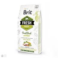 Brit Fresh Duck/Millet Run & Work, корм для собак с активным образом жизни, утка, пшено