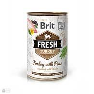 Brit Fresh Turkey/Peas, консервы для собак, индейка, горошек