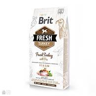 Brit Fresh Turkey/Pea Fit & Slim, корм для собак, индейка, горошек