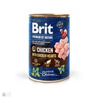 Консервы для собак Brit Premium by Nature Chicken with Hearts Pate, с курицей и сердечками