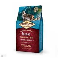 Carnilove Sensitive & Long Hair Salmon Grain Free, корм для кошек с чувствительным пищеварением