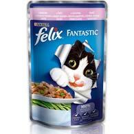 Felix Fantastic, корм для котов, форель и зеленая фасоль, 100 г.