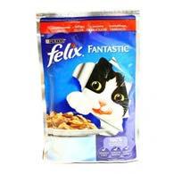 Felix Fantastic, корм для котов, говядина, 100 гр